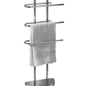 Premier Housewares Porta asciugamani da pavimento cromato con 3 bracci a U