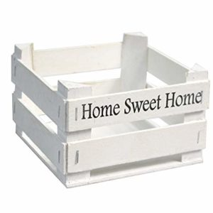Vetrineinrete® Set 2 Cassette in Legno Decorazione casa Cucina servi Alimenti con Scritta Home Sweet Home Shabby Porta…