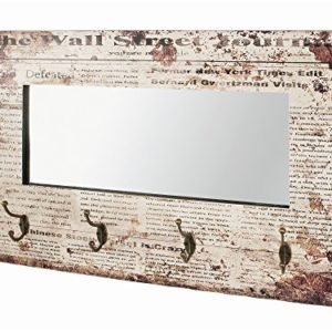 Haku Möbel Appendiabiti, Antico, W: 80 x D: 10 x H: 52 cm